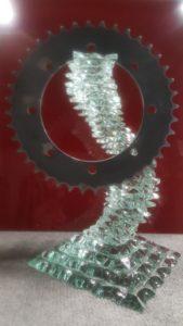 trophée Allo-Atelier verre et métal