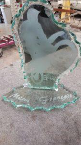 trophée unique verre et sablage françois